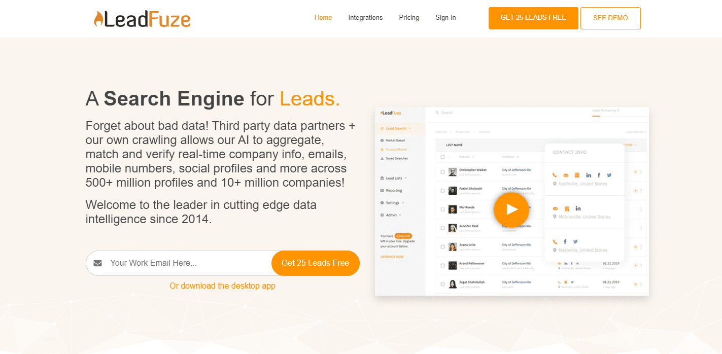 Email Search Tools Lead Fuze