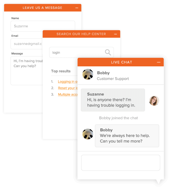 Zendesk Chat window