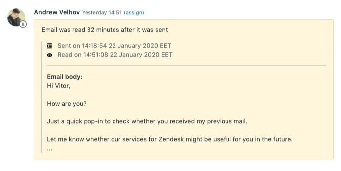 Email Tracking - see when the email is read