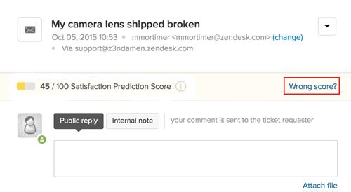 satisfaction prediction in zendesk support