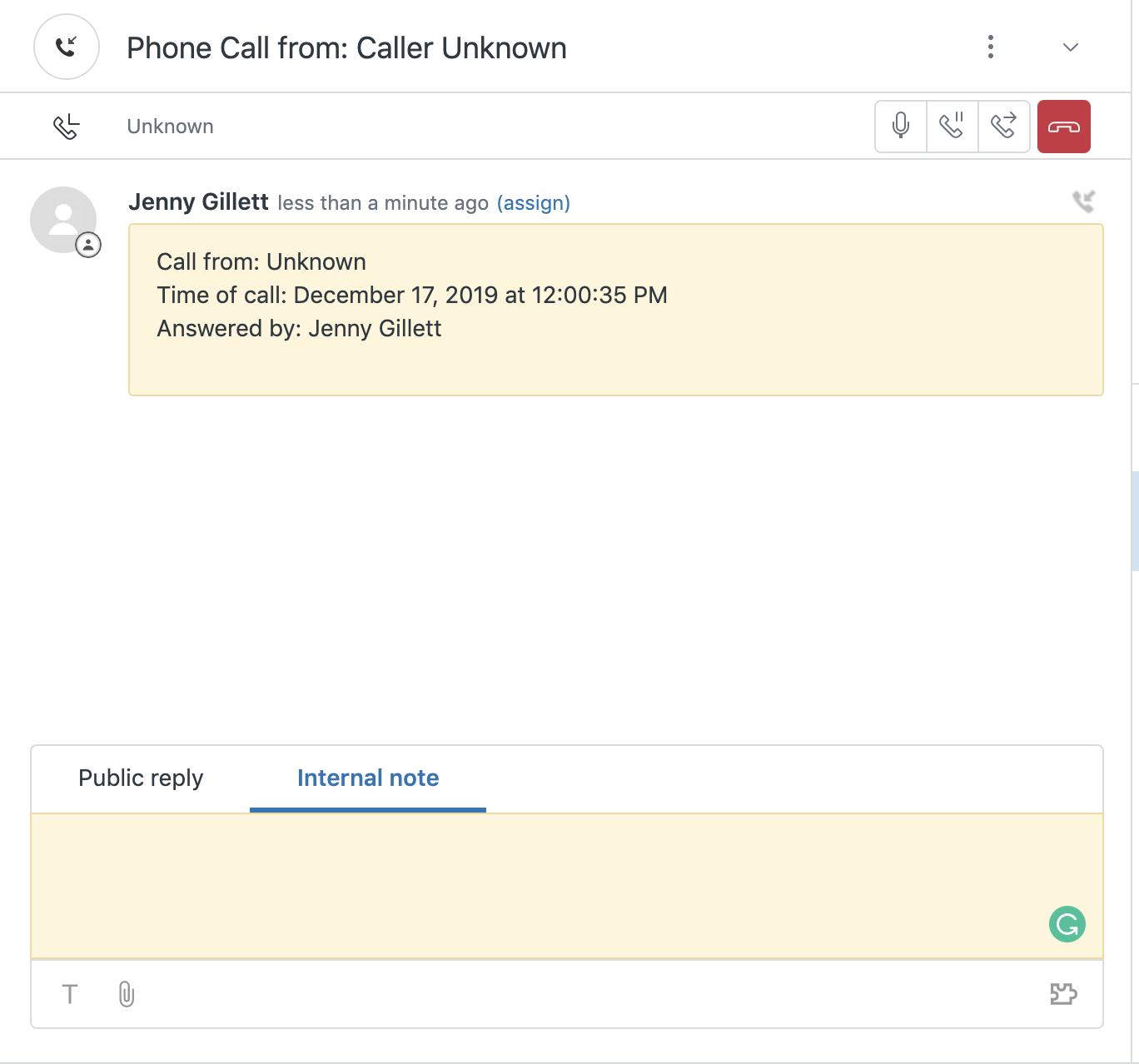 zendesk talk interface