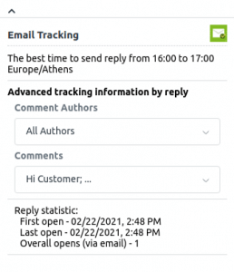 Email tracking statistics