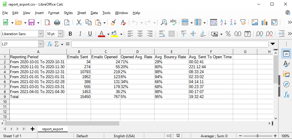 Download Reports In Email Tracking