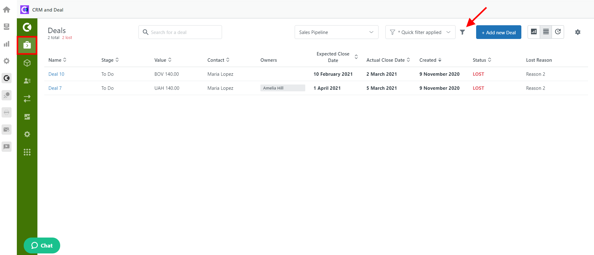 CRM And Deals For Zendesk View