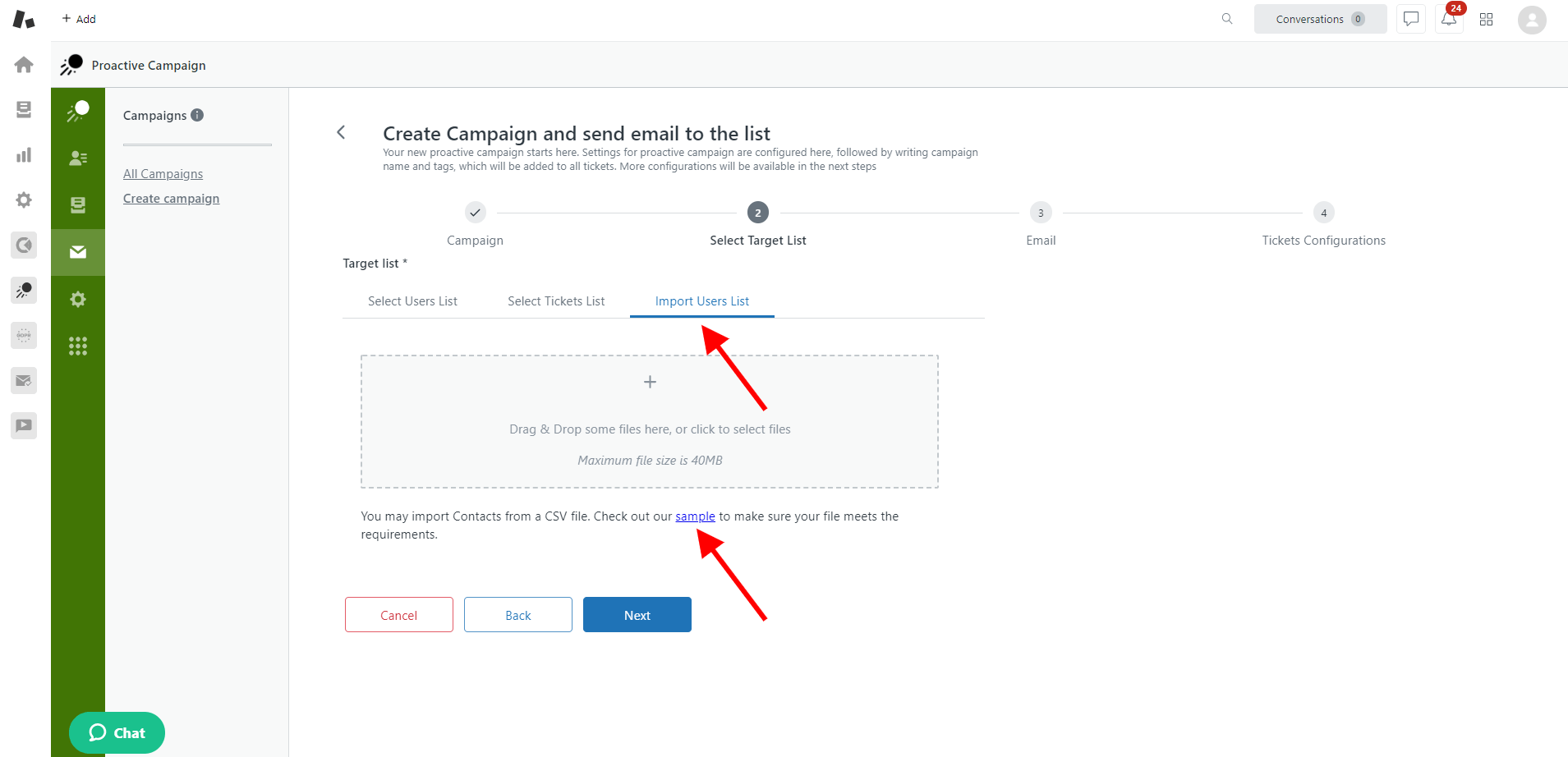 Proactive Campaigns For Zendesk Sample