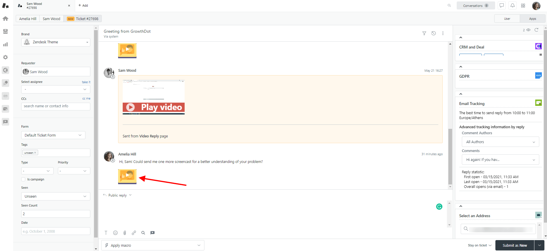 Video Reply For Zendesk Link