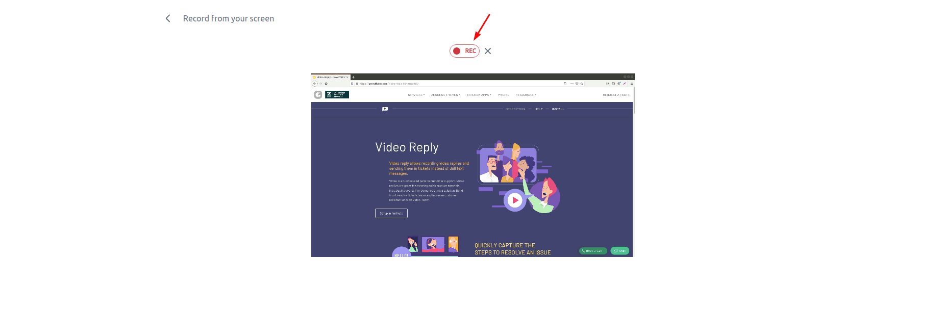 Video Reply For Zendesk Rec
