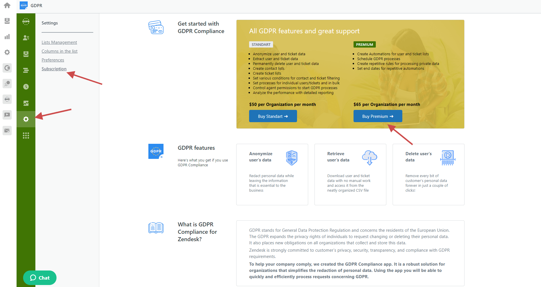 GDPR Compliance For Zendesk Subscription