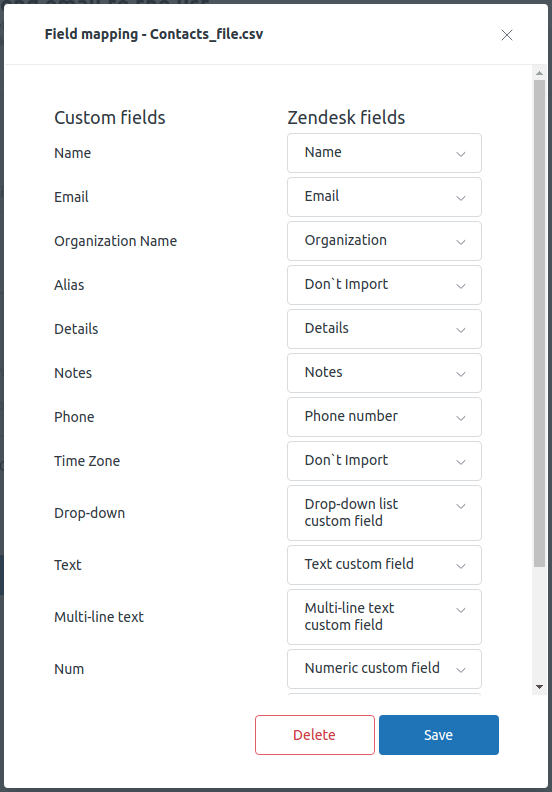 Proactive Campaigns For Zendesk Field Mapping